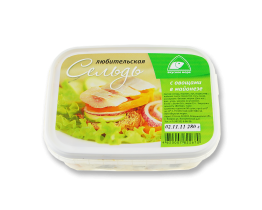 """Сельдь любительская """"С овощами в майонезе"""" 200гр Вкусное море"""