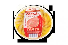 """Ассорти сельдь филе """"Матье"""" с семгой 380гр Вкусное море"""