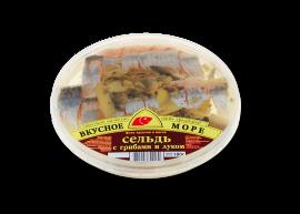 """Сельдь филе """"С грибами и луком"""" 180гр Вкусное море"""