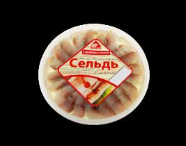 """Сельдь филе """"С грибами и луком"""" 380гр Вкусное море"""