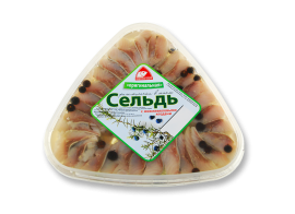"""Сельдь филе """"Оригинальная"""" с можжевеловыми ягодами 500гр Вкусное море"""