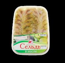"""Сельдь филе """"В масле"""" 250гр Вкусное море"""